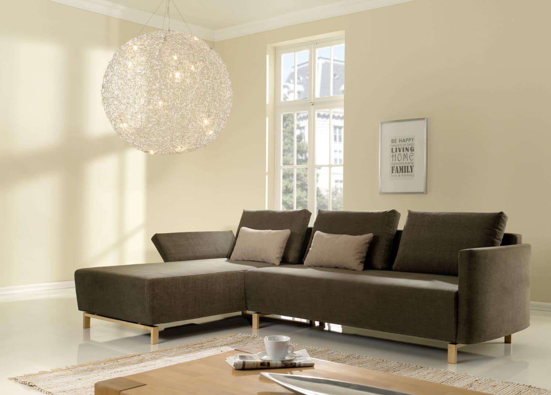 sofa giglio 2 5 sitzer mit recamiere braun bensberg wohnen. Black Bedroom Furniture Sets. Home Design Ideas