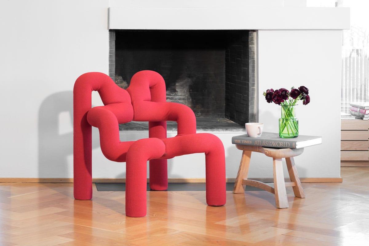 ergonomischer Relaxsessel Ekstrem in rotem Bezug