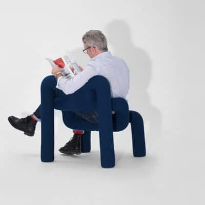 ergonomischer Relaxsessel Ekstrem erlaubt unkonventionelle Sitzpositionen