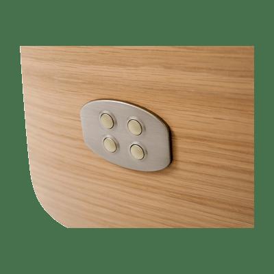 stufenloser verstellbarer Entspannungssessel M39, Detail Bedienknöpfe