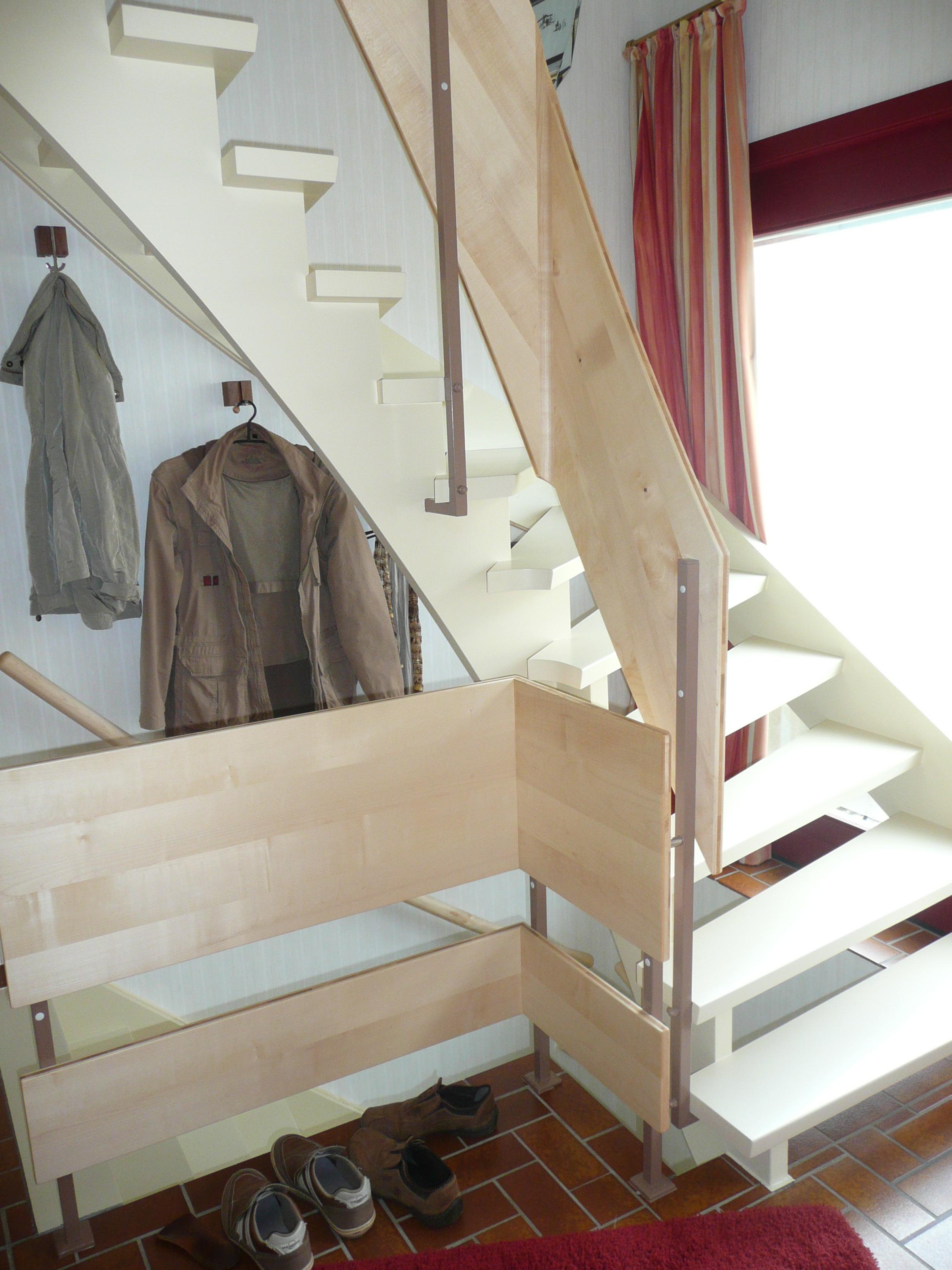 Treppe in Ahorn (3-Schicht) geölt