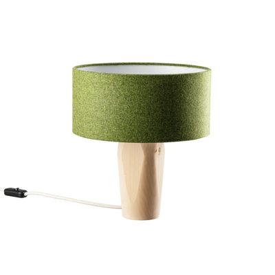 Tischleuchte Pura Filz grün Zirbe